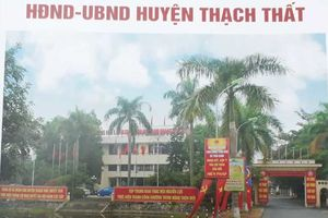 Thạch Thất, Hà Nội: Để xây dựng trái phép gần 1000m2 đất, Chủ tịch xã chỉ phải rút kinh nghiệm!