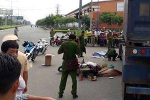 Hai vợ chồng bị xe đầu kéo container cán tử vong