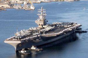 Mỹ điều siêu tàu sân bay USS Ronald Reagan tuần tra ở Biển Đông