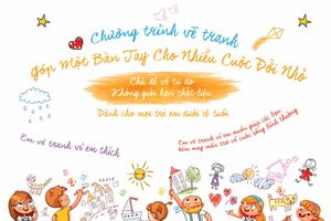 Chương trình vẽ tranh 'Góp một bàn tay cho nhiều cuộc đời nhỏ'