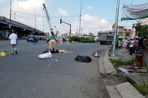 Xe ben va chạm với xe máy,1 người chết, 1 người bị thương