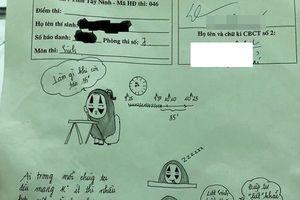 Muôn kiểu giết thời gian trên giấy nháp 'bá đạo' của sĩ tử mùa thi THPT Quốc Gia