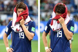 Cầu thủ Nhật Bản khóc sau thất bại cay đắng trước tuyển Bỉ