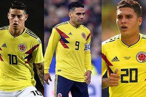 Đội hình dự kiến của Colombia trước Anh: Mãnh hổ Falcao bẻ nanh sư tử?