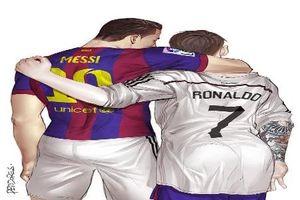 Vừa chia tay World Cup, Messi và Ronaldo 'đóng phim' đam mỹ