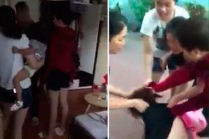 Xôn xao Clip vợ ôm con đi đánh ghen, lột nội y cô gái trẻ