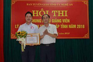 Thí sinh đến từ Nghi Lộc đạt giải Nhất hội thi giảng viên lý luận chính trị giỏi cấp tỉnh