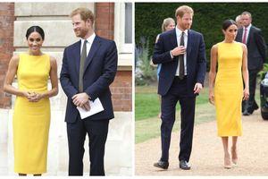 Chỉ một chiếc váy vàng cực kỳ đơn giản nhưng Công nương Meghan Markle được cả thế giới ca tụng