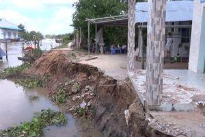 Tiếp tục xảy ra sạt lở tại huyện Cái Bè, tỉnh Tiền Giang