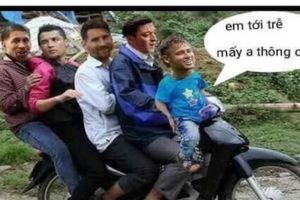 Dân mạng chế ảnh Neymar đạp xe về nước sau khi Brazil thua Bỉ
