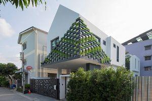 Nhà phố ấn tượng với vườn treo sáng tạo ngoài mặt tiền