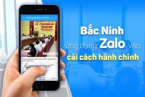 Bắc Ninh nhận kết quả giấy tờ nhà đất, hộ tịch, khiếu nại qua Zalo