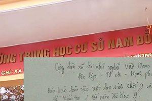 Còn ẩn khuất tại trường Nam Đồng chờ Phòng Giáo dục Hải Dương trả lời