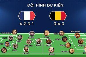 Đội hình ra sân của 2 đội tuyển Pháp, Bỉ trong trận 1h sáng ngày 11/7