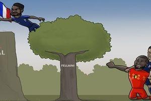 Góc nhìn hài hước của cư dân mạng về trận Pháp 1-0 Bỉ