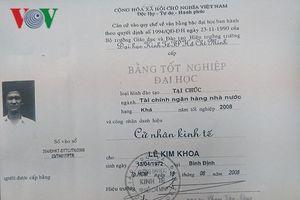 Phát hiện Trưởng ban Tổ chức huyện ủy Chư Sê dùng bằng đại học giả