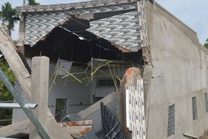 Ngôi nhà trị giá 600 triệu ở Sóc Trăng vừa xây xong đã sập