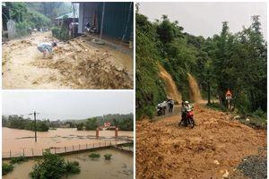 Chùm ảnh: Nước ngập thành biển, nhiều xã ở Lào Cai cô lập hoàn toàn