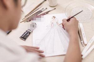 Hé lộ bản thiết kế váy cưới khủng của Á hậu Tú Anh