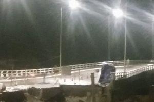 Cầu Đăng Hải Phòng mới khánh thành đã sạt lở