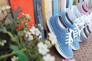 Mách nhỏ cách giặt giày vải không bị phai màu