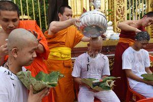 Đội bóng nhí Thái Lan làm lễ xuống tóc, chuẩn bị vào chùa tu tập