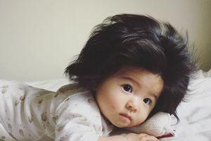 Bé gái 6 tháng tuổi nổi như cồn nhờ mái tóc 'vạn người mê'