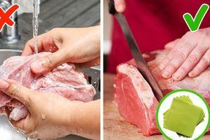 Những sai lầm cơ bản khi sơ chế thực phẩm