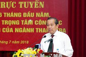 Phó Thủ tướng Trương Hòa Bình: Thanh tra phải chỉ ra đúng bản chất sự việc