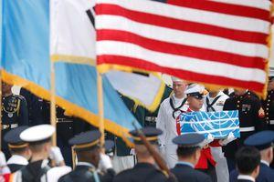 Toàn cảnh buổi lễ Mỹ tiếp nhận hài cốt binh sĩ tử trận từ Triều Tiên