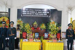 Lễ viếng và truy điệu 2 phi công hy sinh theo nghi thức Lễ tang Quân đội