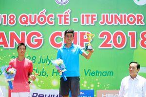 Nguyễn Văn Phương đăng quang ngoạn mục giải quần vợt U.18 quốc tế