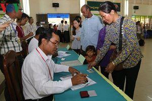 Bầu cử Quốc hội Campuchia diễn ra thành công