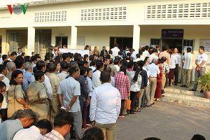 8,3 triệu cử tri Campuchia tham gia bỏ phiếu bầu cử Quốc hội Khóa VI