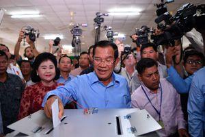 Đảng của Thủ tướng Hun Sen chiến thắng tổng tuyển cử Campuchia