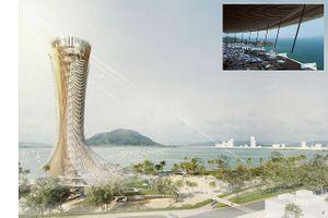 Một doanh nghiệp Bình Định đề xuất xây tháp cao gần 100m có nhà hàng xoay 360 độ