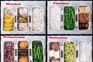 'Nhỏ nước miếng' với 7 hộp cơm mang đi làm cực hấp dẫn và chu đáo