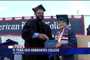 Cậu bé 11 tuổi tốt nghiệp đại học Mỹ