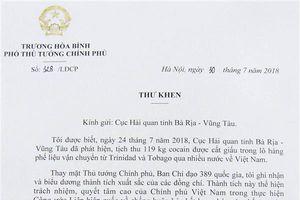 Phó Thủ tướng gửi thư khen lực lượng Hải quan về thành tích bắt 100 bánh cocaine