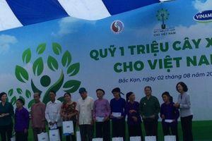 Quỹ 1 triệu cây xanh và Vinamilk trồng 100.000 cây tại Bắc Kạn