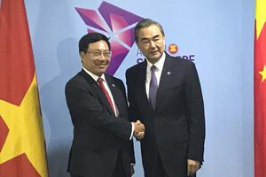 Phó Thủ tướng Phạm Bình Minh tiếp xúc Bộ trưởng Ngoại giao Trung Quốc