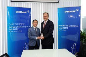 Eximbank nhận giải thưởng Thanh toán xuất sắc của Wells Fargo