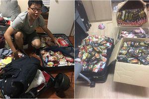 Du học sinh Việt đua nhau khoe vali chứa đầy mì tôm vì sợ ở 'bển' không bán!