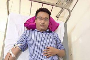 Hồng Lĩnh (Hà Tĩnh): Bí thư Thị đoàn trực tiếp hiến máu cứu bệnh nhân qua cơn nguy kịch