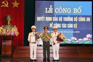 Hà Tĩnh: Bổ nhiệm và điều động 2 Phó Giám đốc công an tỉnh