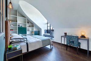 Căn hộ có nội thất màu xanh dương cuốn hút