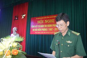 Nam Định: Tổng kết 20 năm thi hành Pháp lệnh BĐBP