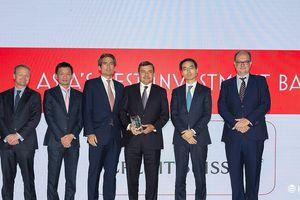 Credit Suisse được vinh danh Ngân hàng Đầu tư tốt nhất Việt Nam
