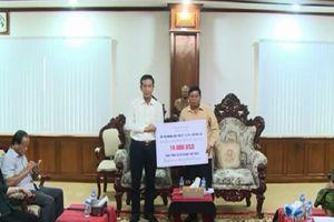 Quảng Bình hỗ trợ tỉnh Ắt Ta Pư 10.000 USD khắc phục sự cố vỡ đập thủy điện