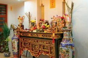Cách sửa soạn bàn thờ cúng ngày rằm tháng 7
